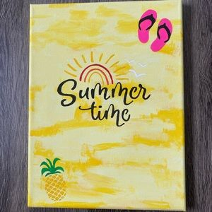 """Other - Hand Painted Picture """"Summer Time"""""""